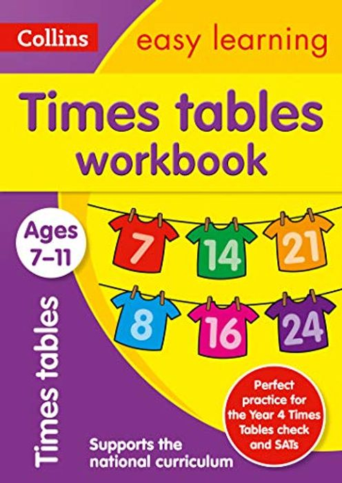 1/2 PRICE - Times Tables Workbook | Ages 7-11 (Collins Easy Learning KS2)