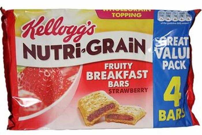 Kelloggs Nutrigrain Strawberry Breakfast Bar 4 Pack