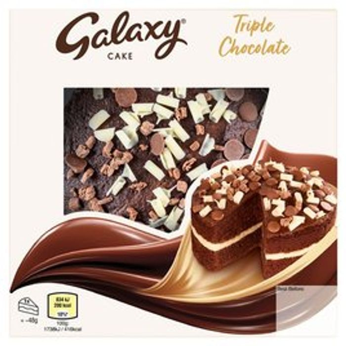 Galaxy Cake Triple Chocolate Cake