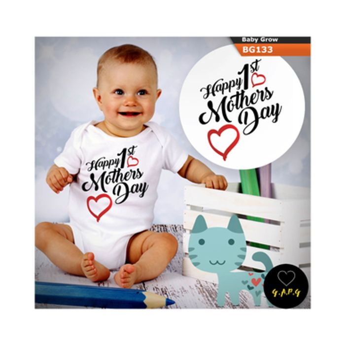 Happy 1st Mother's Day Baby Grow