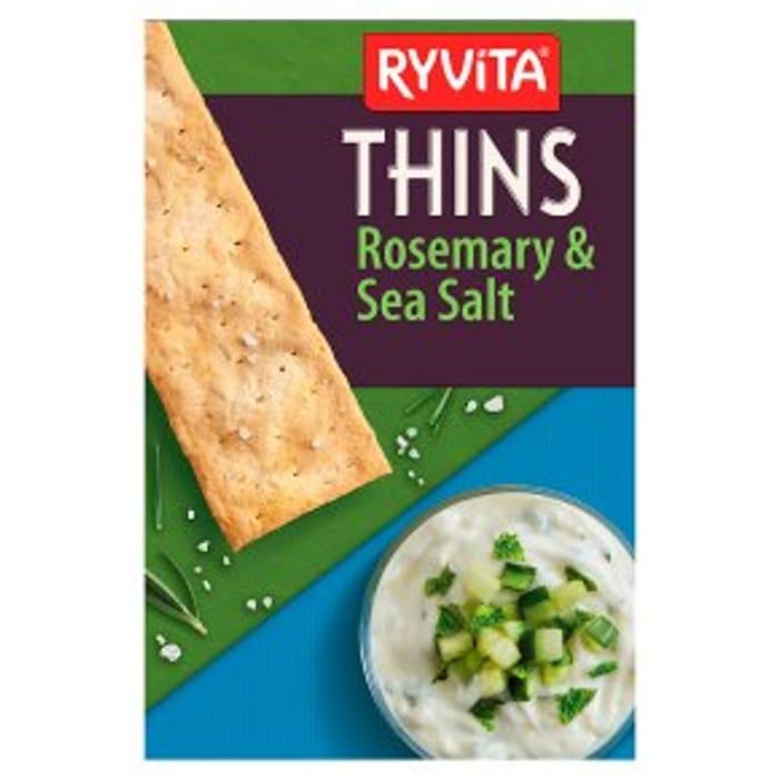 Ryvita Thins Rosemary & Sea Salt Flatbreads125g