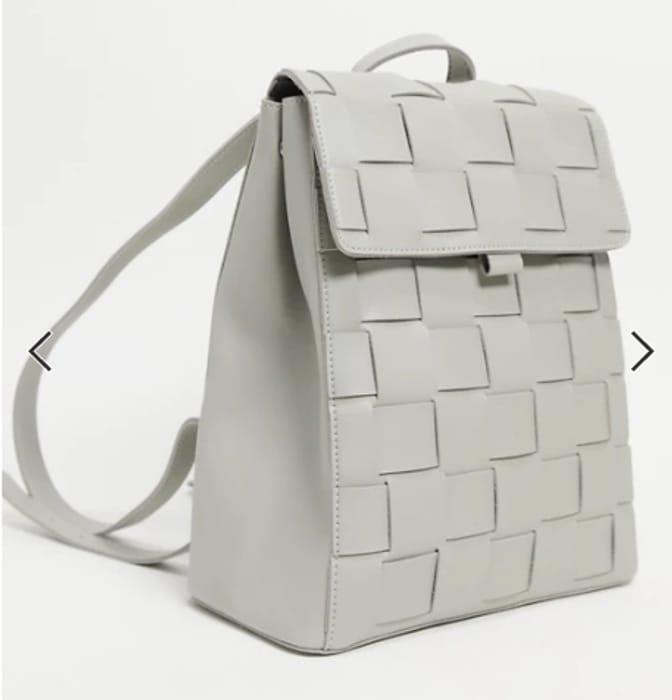Claudia Canova Weave Backpack in Grey