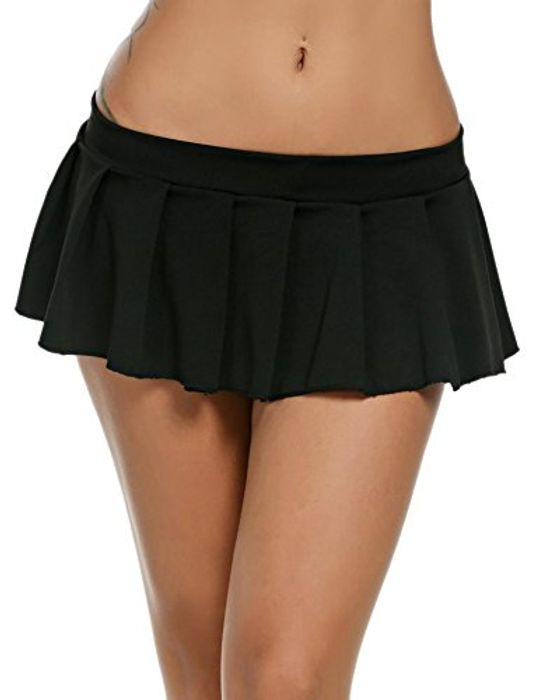 DEAL STACK - ADOME Women Schoolgirls Mini Skirt + 8% Coupon