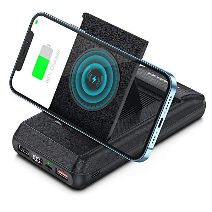 Wireless Power Bank 20000mAh, with 15W Fast Charging