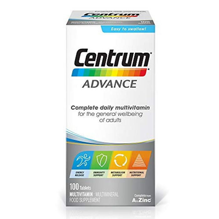 Centrum Advance Multivitamins 100 Pack. Reduced to £10