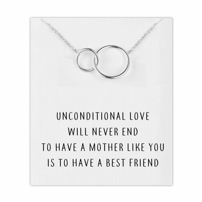 Silver Link Mum Necklace with Quote Card FREE DELIVERY