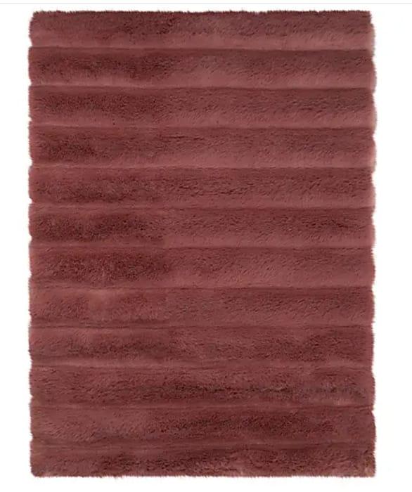 Faux Fur Rug - Rose Pink or Merlot - Only £6.25