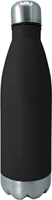 NERTHUS FIH 643 Stainless Steel Bottle 29 X 7,5 X 7,5 Cm Black