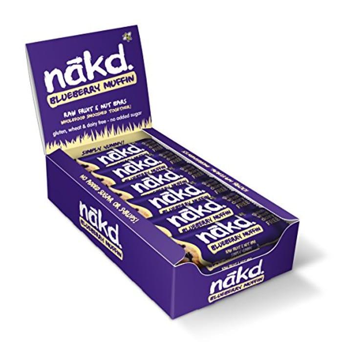 Nakd Blueberry Muffin Natural Fruit & Nut Bars X 18