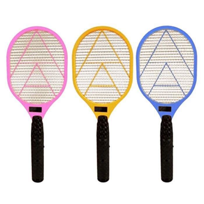 Electric Fly Catcher Racket - Assorted Colours