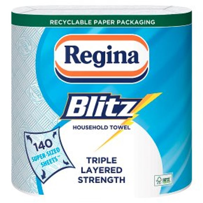 Regina Blitz 3 Ply Towels 2x70 Sheets