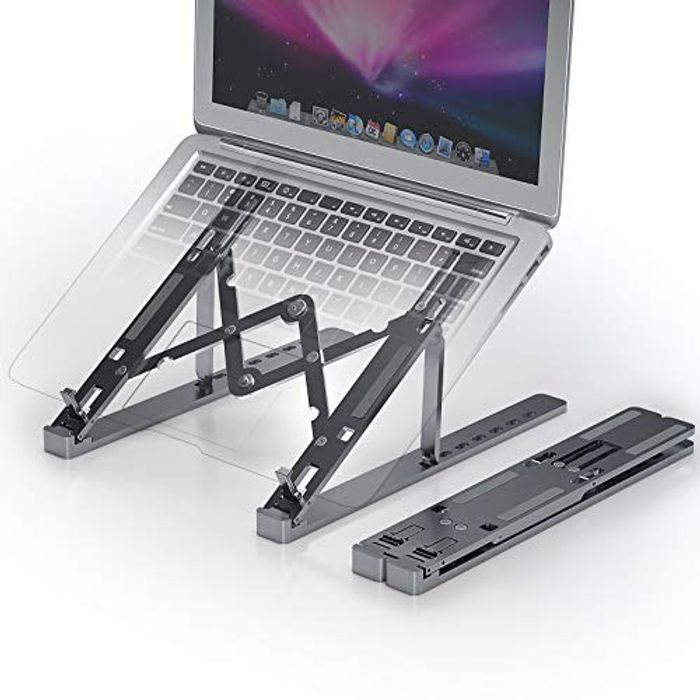 Techoss Adjustable Multi-Angle Foldable Laptop Stand
