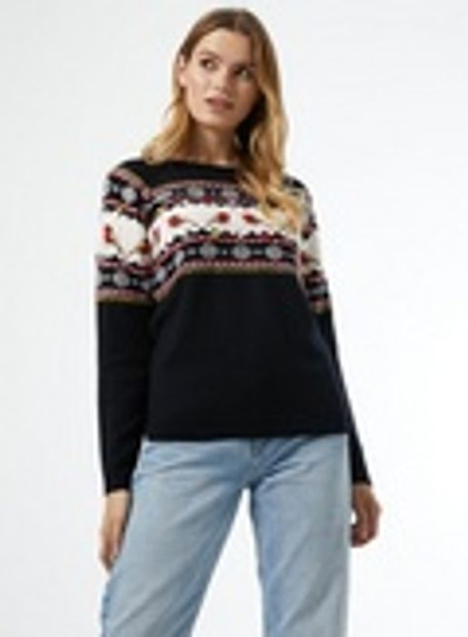Navy Robin Fairisle Jumper - £5.40 Delivered with Code!