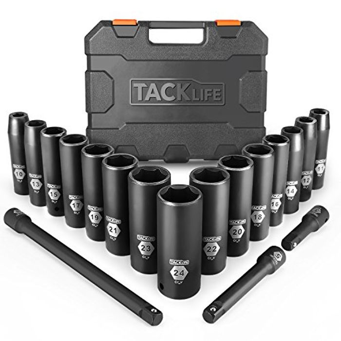 DEAL STACK - TACKLIFE 1/2 Drive Master Deep Impact Socket Set + 25% Coupon