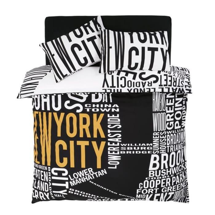 1\2 Price ! NYC World Map Bedding Set - Superking