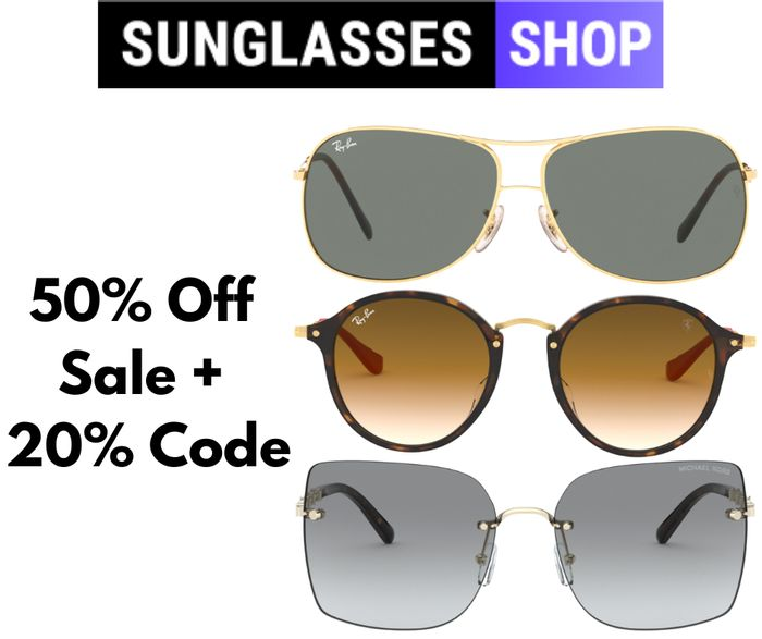 The Sunglasses Shop Up to 50% off Sale + Extra 20% Code