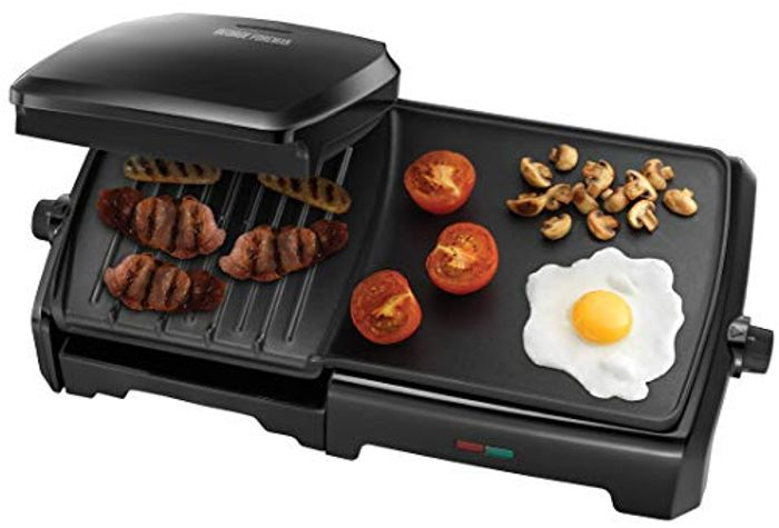 George Foreman Large Variable Temperature Grill & Griddle - Only £42!