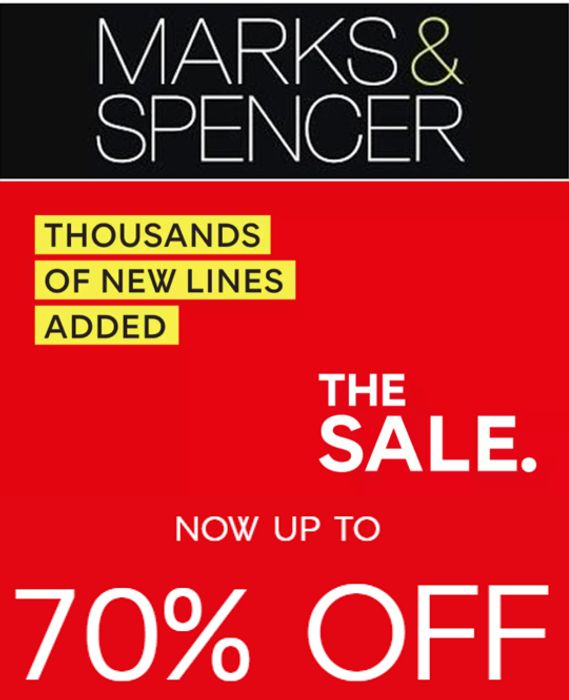 M&S Up To 70% Off Sale - Thousands Of New Lines Added