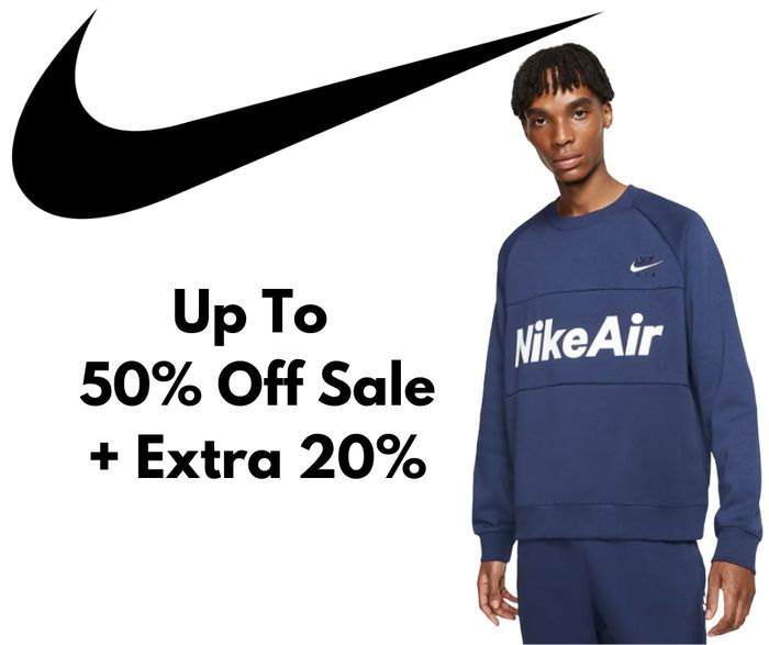 Nike Up to 50% Off Sale + Extra 20% Off Code
