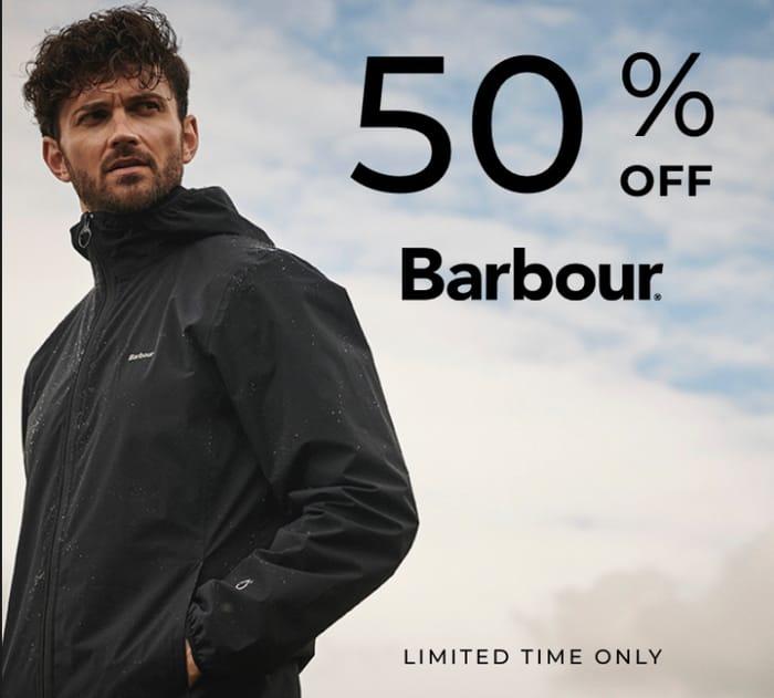Flash Sale! 50% Off Barbour at House of Fraser
