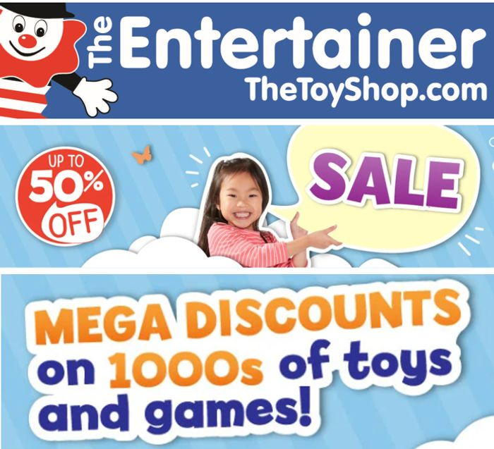 The Entertainer - TOY SALE - 25%, 30%, 50%, 70%, EVEN 80% OFF!