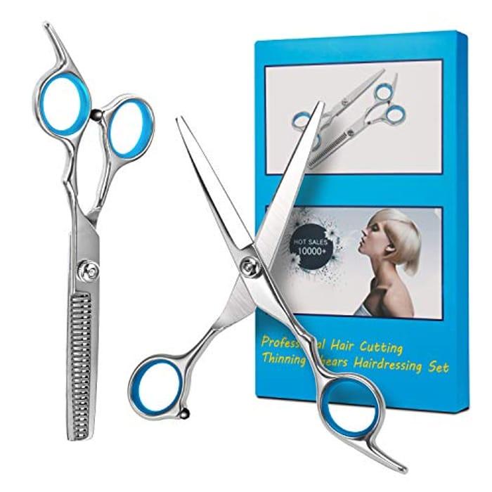 Hair Scissors, Professional Hair Cutting Kits Thinning Shears Hairdressing Set