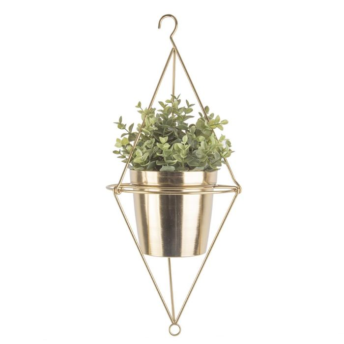 Pendere Diamond Hanging Planter Gold