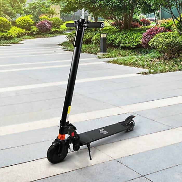 HOMCOM Electric Scooter Folding Adjustable Speed W/ Light Black