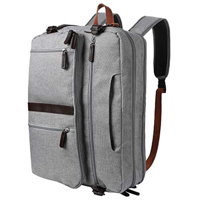 Multifunction Canvas Laptop Backpack