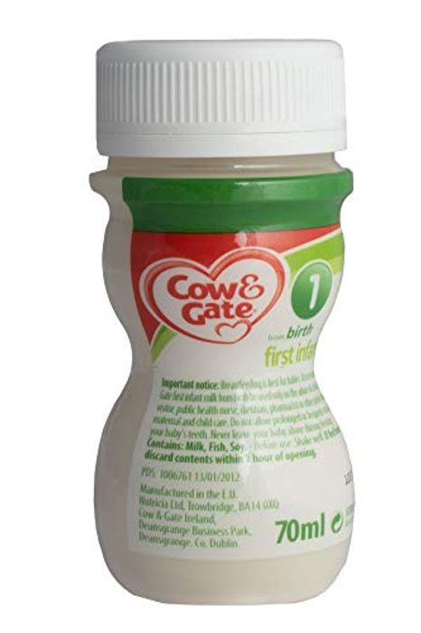 CHEAP! Cow & Gate First Infant Milk - Ready to Feed, 70ml, Box of 24 Bottles