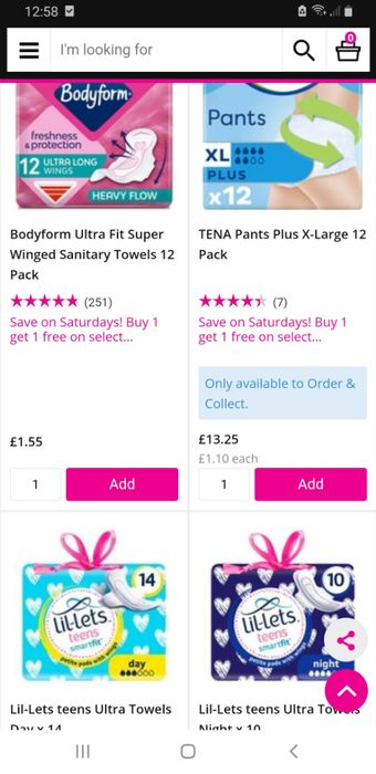 Save on Saturdays! Buy 1 Get 1 Free on Selected Sanitary Products
