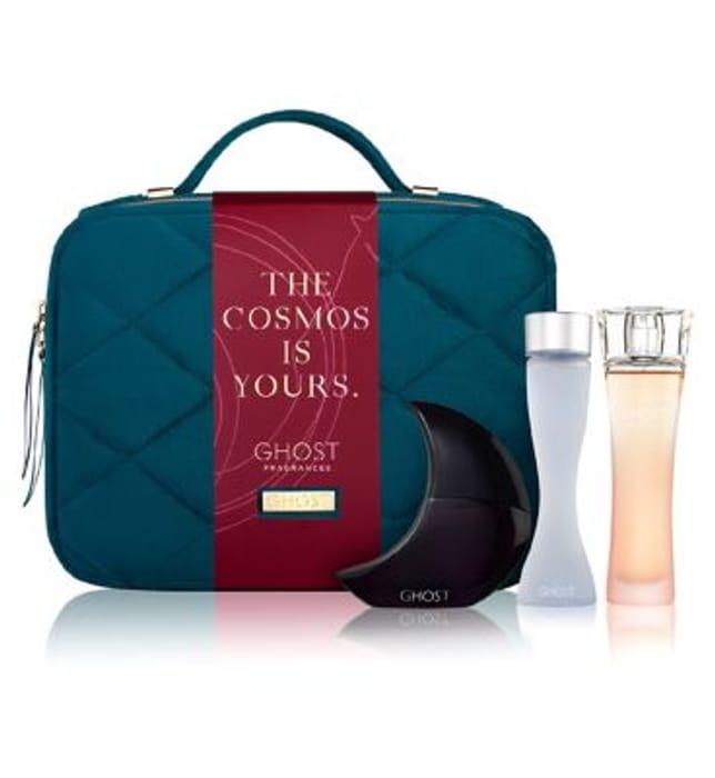 Ghost Vanity Case with 3x 30ml Fragrances Basket Price £51.66