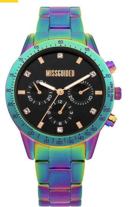 Missguided Iridescent Multicoloured Bracelet Watch Only £19.99