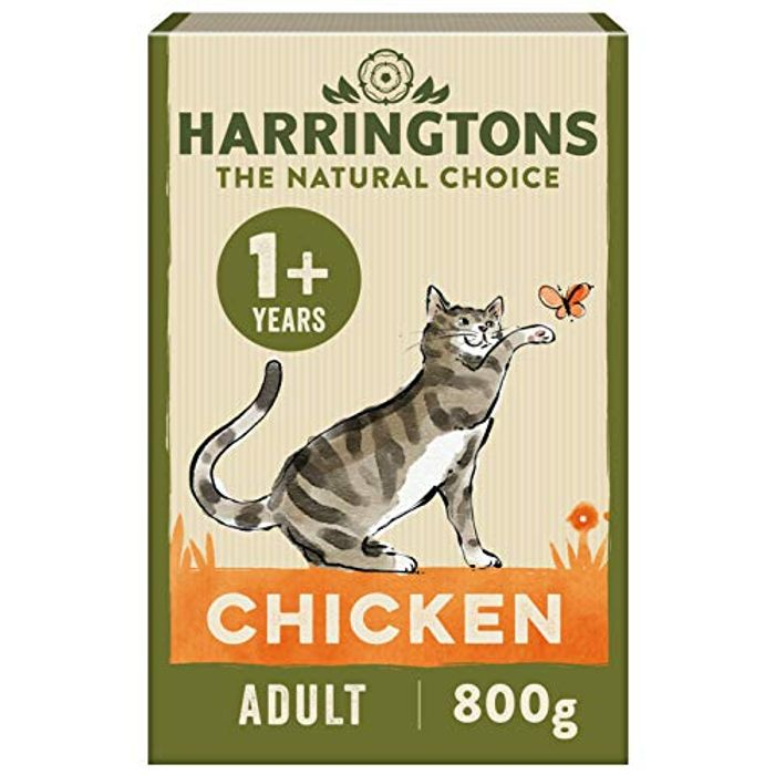 5X Harringtons Complete Adult Chicken Dry Cat Food 800g - Only £5.2!