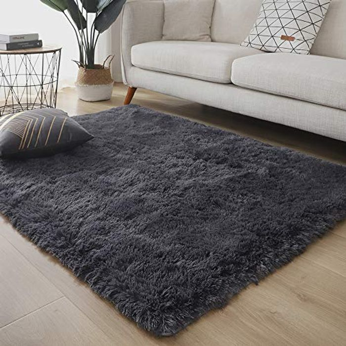 LDUSA HOME Fluffy Rug Faux Fur Rug for Living Room with £20 off Coupon