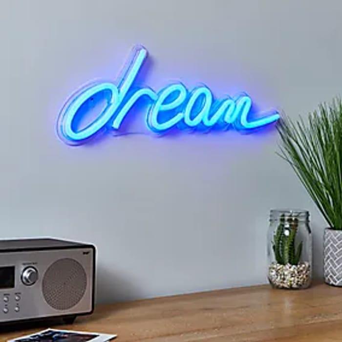 Dream Neon Effect Wall Light