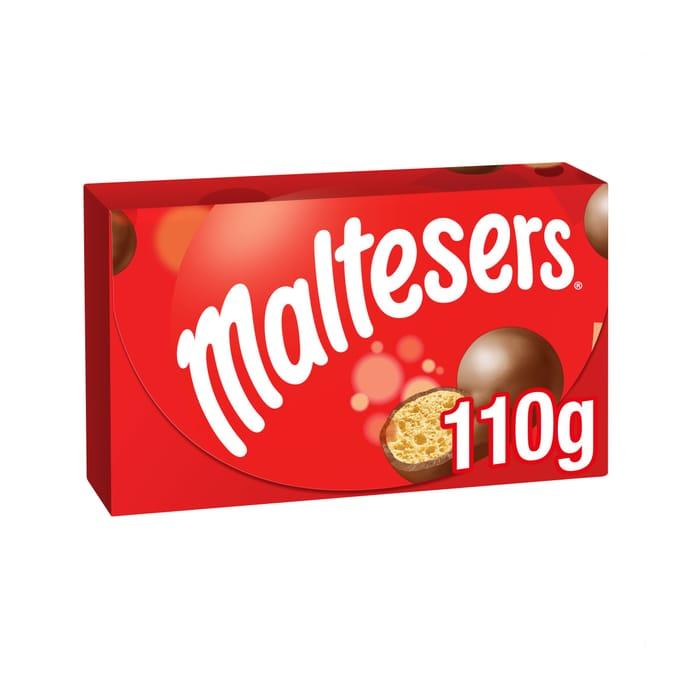 Maltesers Milk Chocolate Box 110G Club Card Price £1.25