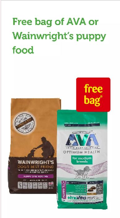 FREE Bag of AVA or Wainwright's Puppy Food When You Join VIP Puppy Club