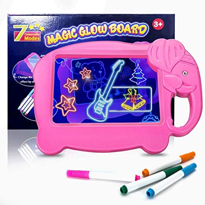 Light up Drawing Board Kids Led Glow Drawing Board with 4 Fluorescent Pens