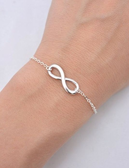 Best Price! Infinity Charm Bracelet with Chain for Women/Girls