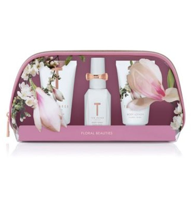 Ted Baker FLORAL BLISS WHITE Mini Beauty Bag Gift