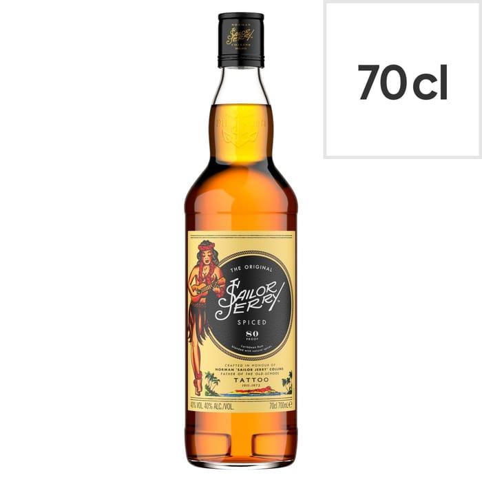 Sailor Jerry Spiced Rum 70cl - Clubcard Price