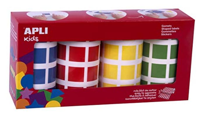 Pack of 4 Square Gomets Rolls 4 Colours