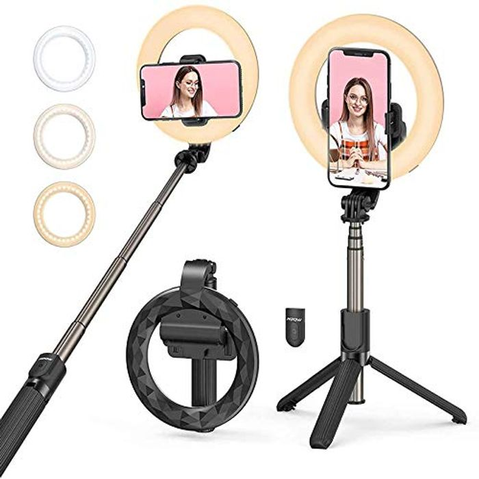 DEAL STACK - Mpow LED Rechargeable Ring Light with Tripod Stand + 5% Coupon