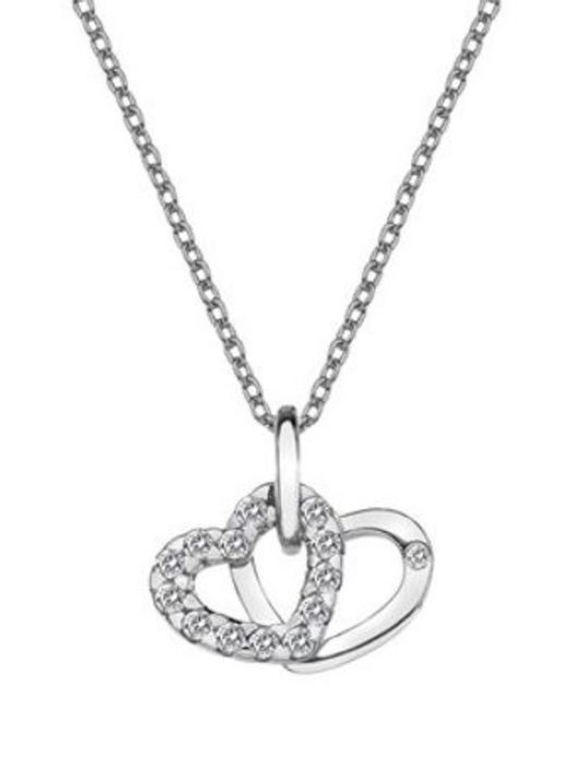 Hot Diamonds DP682 Sterling Silver and White Topaz Necklace Free Delivery