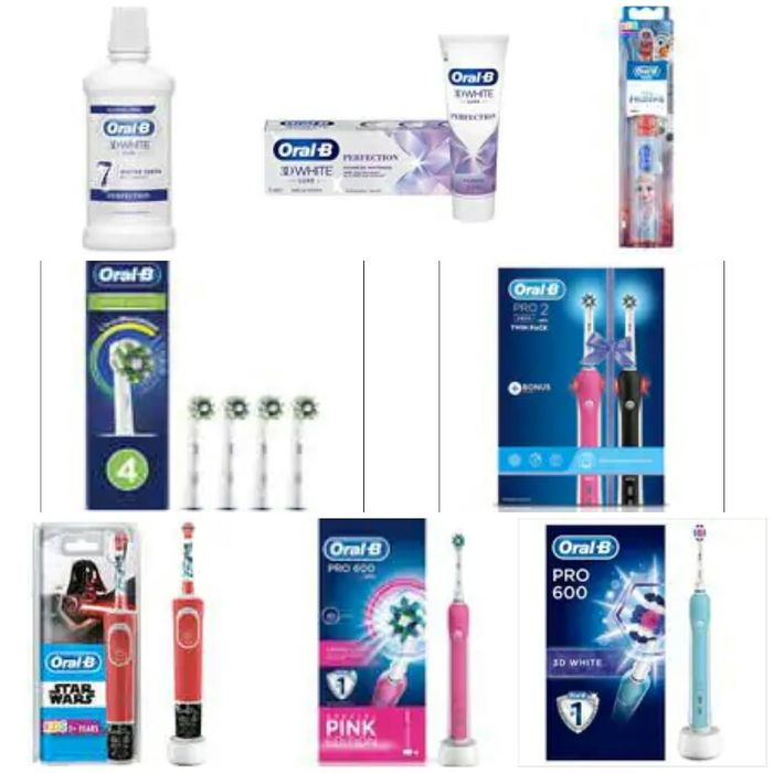 Better than 1/2 Price Oral B Electrical, Battery Toothbrushes, Toothpastes, Etc