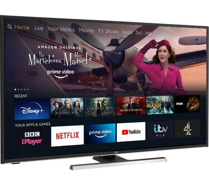 """JVC Fire TV Edition 55"""" Smart 4K Ultra HD HDR LED TV w/Alexa £289.99 With Code"""
