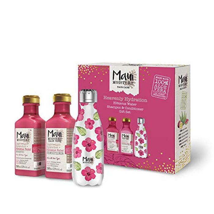 Maui Moisture, Vegan Shampoo and Conditioner with Reusable Water Bottle