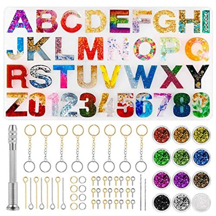 186pcs Alphabet Resin Kit