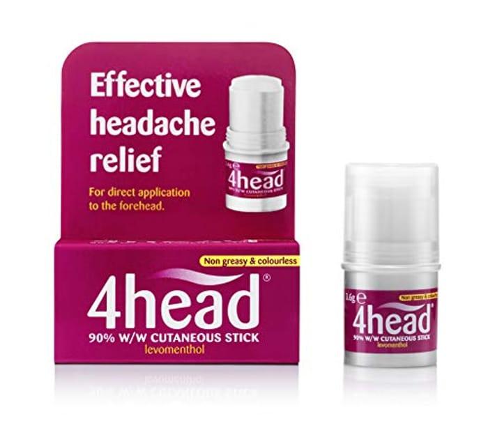 4 Head Levomenthol Stick for Headache Relief, 3.6 G